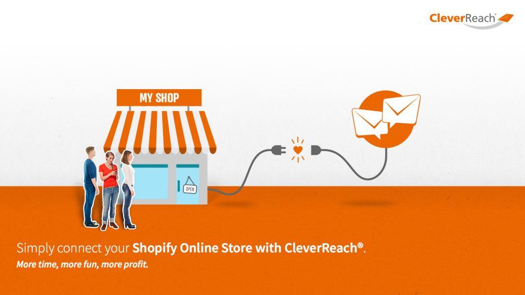 screenshot gallery: collega cleverreach® a shopify