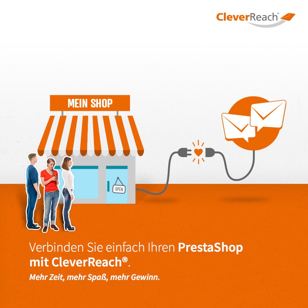 Verbinden Sie einfach PrestaShop Onlineshop mit CleverReach®