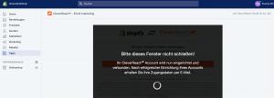 CleverReach Account wird eingerichtet und verbunden