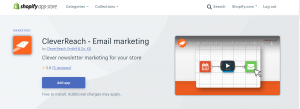 Shopify App Store App herunterladen - CleverReach