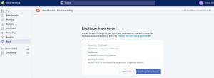 Shopify CleverReach Empfänger importieren