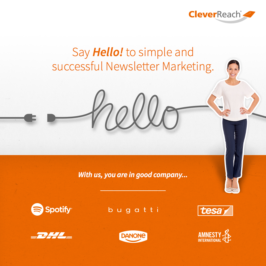 Screenshot: Say Hello to simple and successful Newsletter marketing
