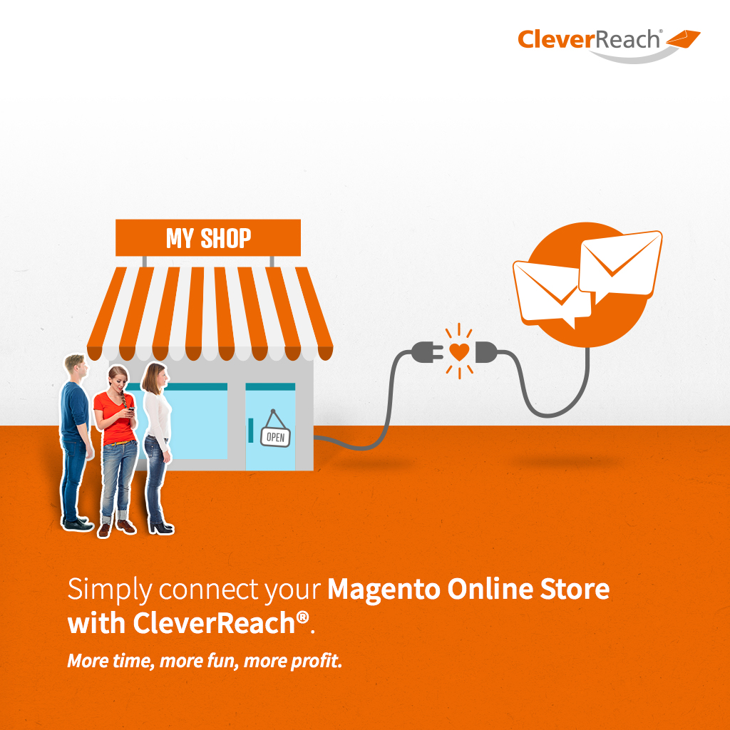 Screenshot: simply connect your Magento online store with cleverreach
