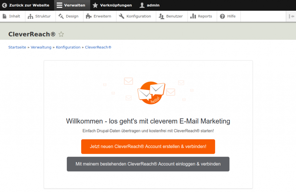 CleverReach®-Drupal-Accounts-verbinden