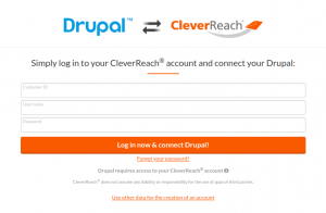 CleverReach®-Drupal-bei-CleverReach®-einloggen