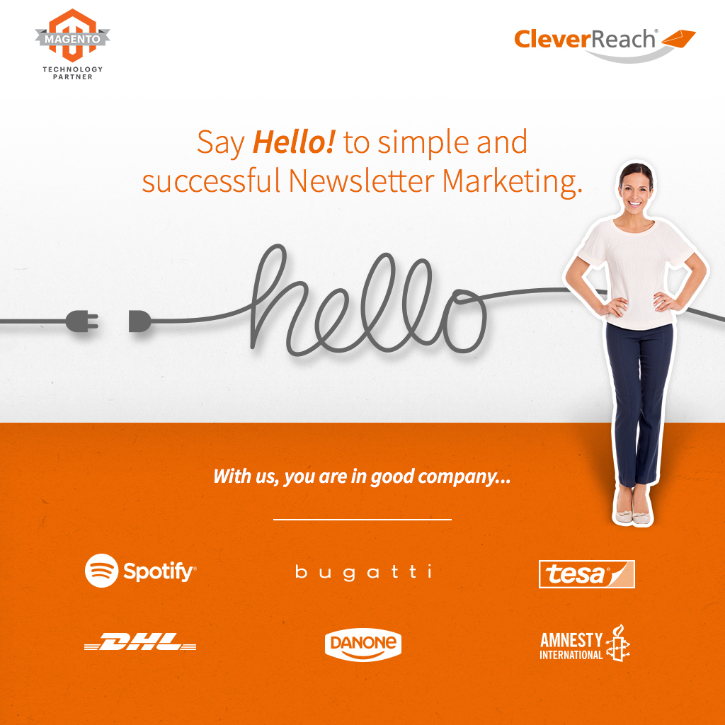 screenshot: say hello to easy email marketing