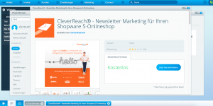 Shopware CleverReach Integration im Marketplace herunterladen