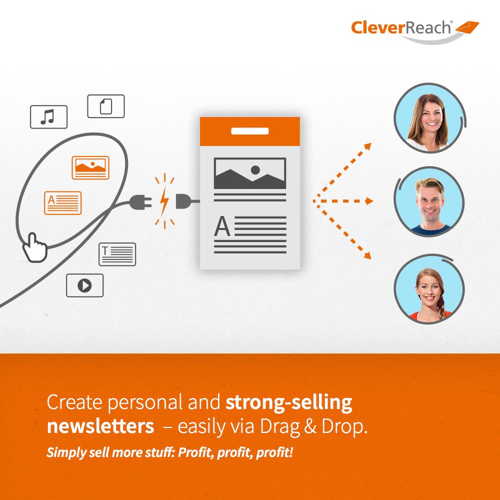 CleverReach + Drupal create newsletters