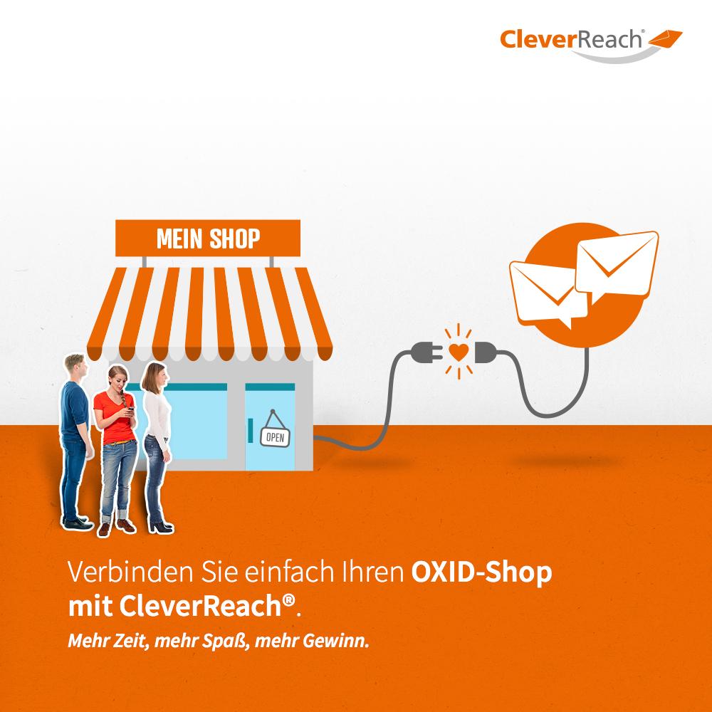 screenshot: oxid esales mit cleverreach® verbinden - verinden Sie einfach ihren oxid-shop mit clverreach®