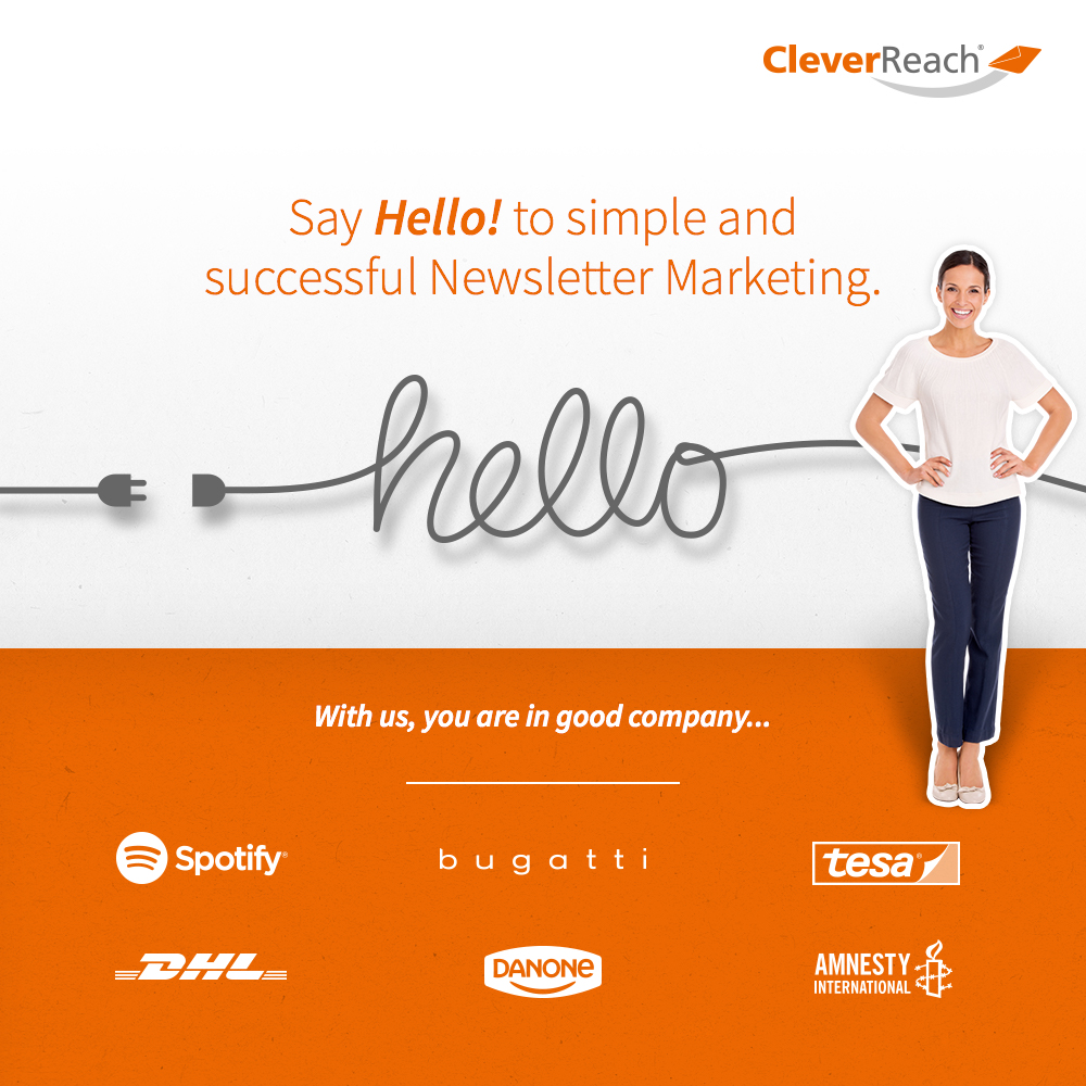 screenshot: connect oxid esales and cleverreach® - say hello to simple and successful newsletter marketing