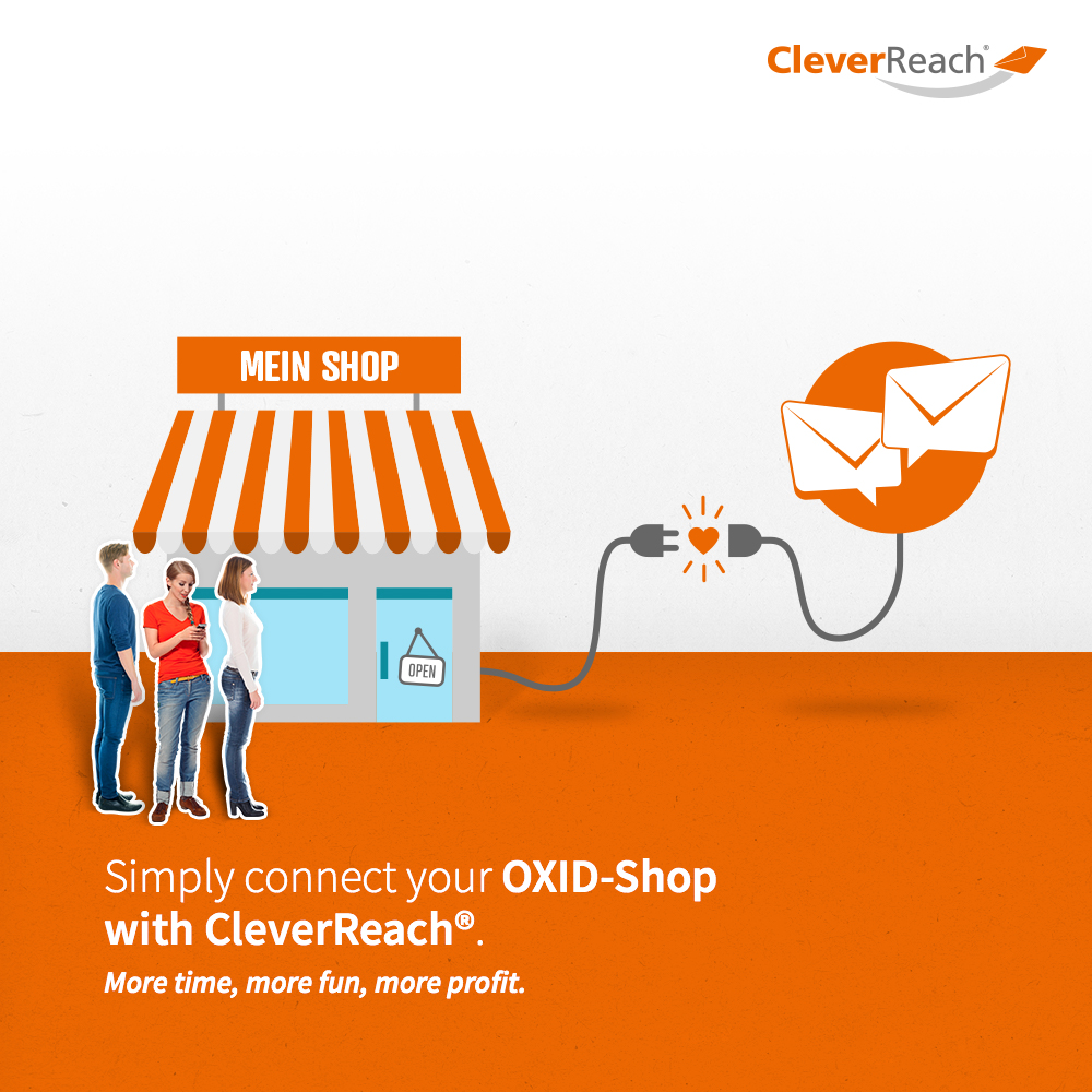 creenshot: connect oxid esales and cleverreach® - simply connect your Oxid-Shop with CleverReach®