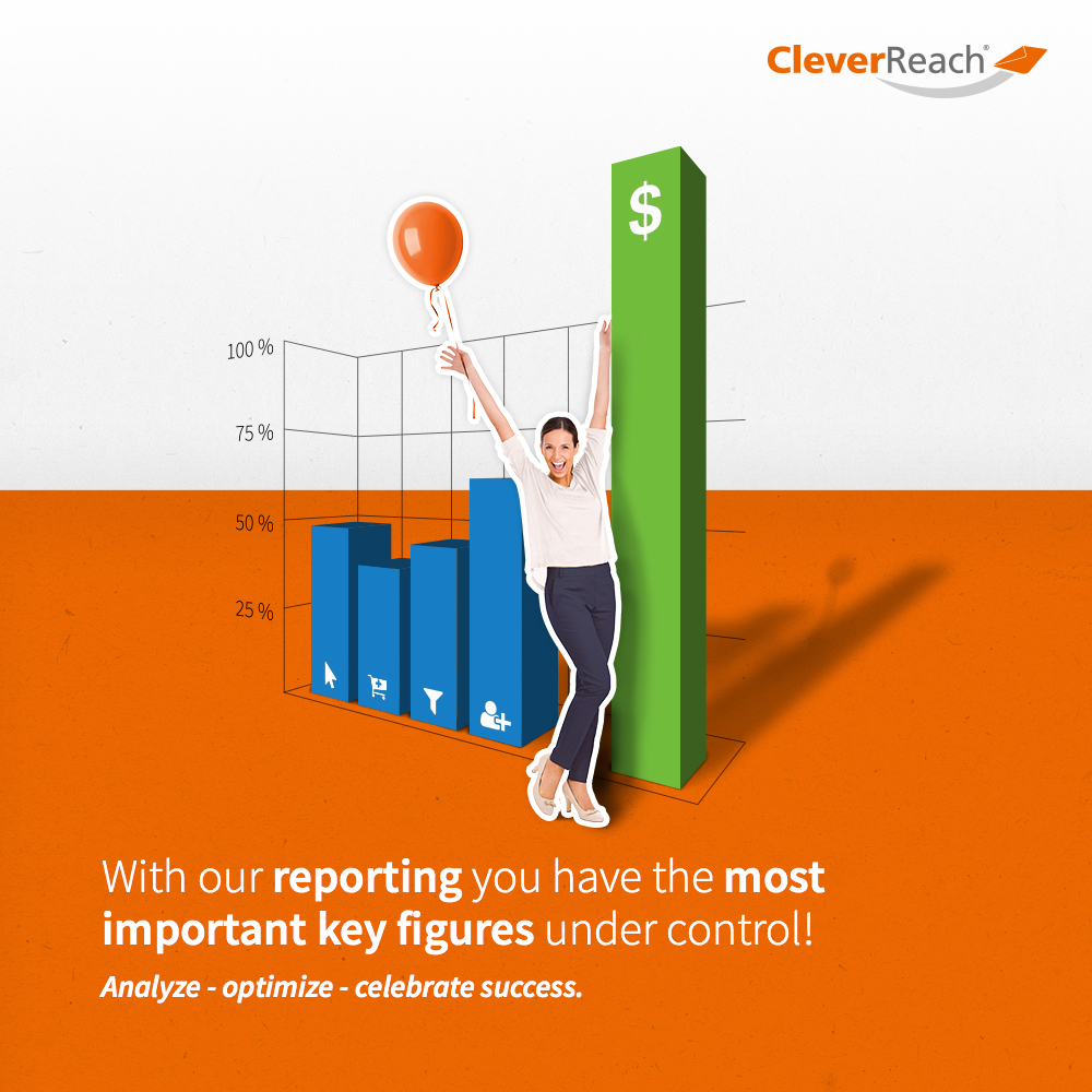 creenshot: connect oxid esales and cleverreach® - with our reporting you have the most important key figures under control
