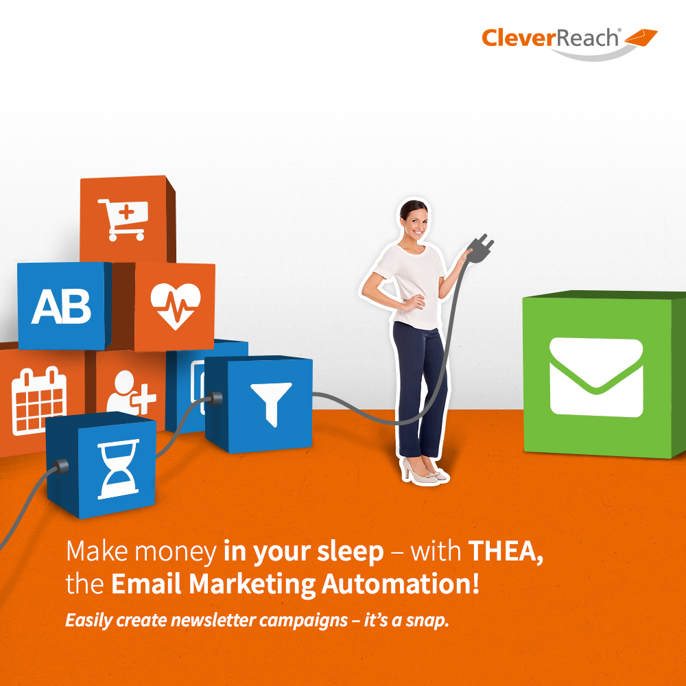 screenshot: connect oxid esales and cleverreach® - make money in your sleep, with thea the email marketing automation