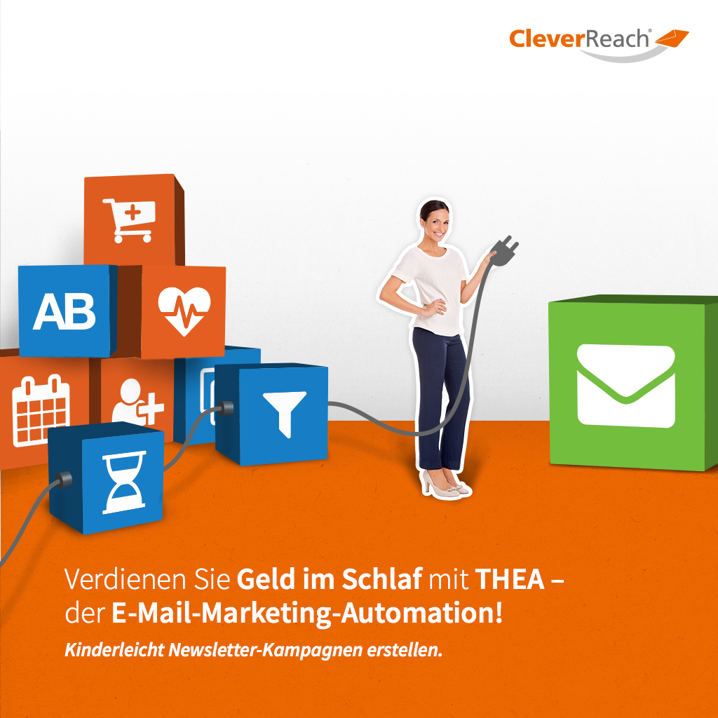 screenshot: xtcommerce mit cleverreach® verbinden - verdienen sie geld im schlaf mit thea, der email-marketing-autimation von cleverreach®