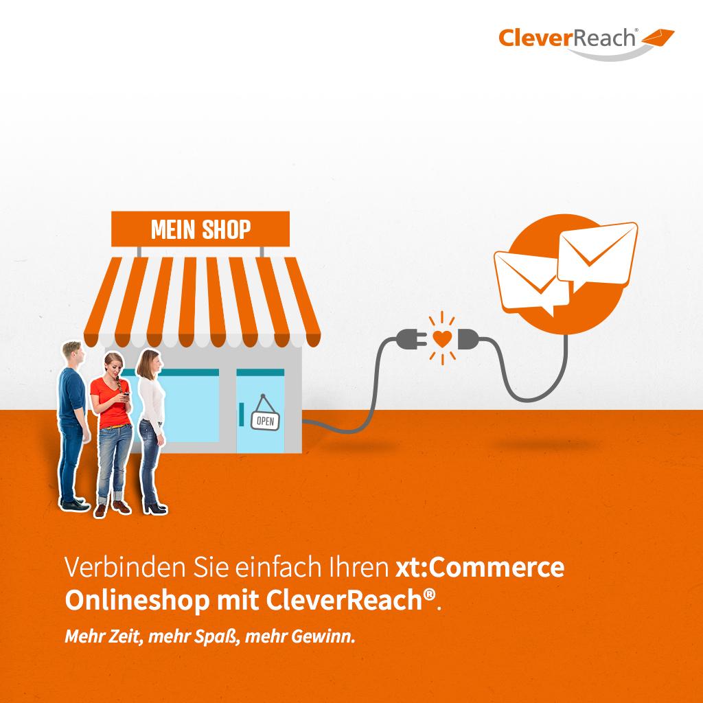 screenshot: xtcommerce mit cleverreach® verbinden - verinden Sie einfach ihren xtcommerce-shop mit clverreach®