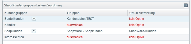 Shopware Cleverreach Export Kundendaten