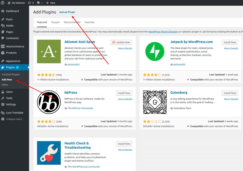 CleverReach®-WooCommerce-Plugin-in-Wordpress-hochladen