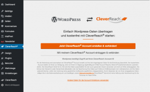 Wordpress E-Mail Marketing Plugin Accounts verbinden - CleverReach®