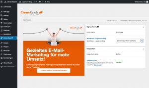 Wordpress E-Mail Marketing Plugin Accounts verbinden 2 - CleverReach®