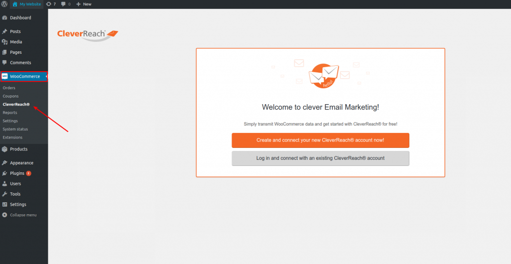CleverReach®-WooCommerce-welcome to clever-E-Mail-Marketing