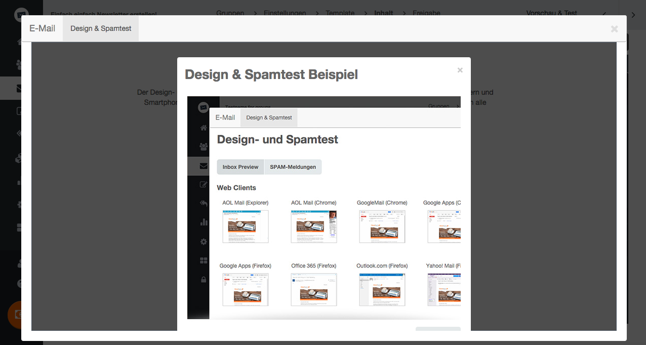 Design- und Spamtest