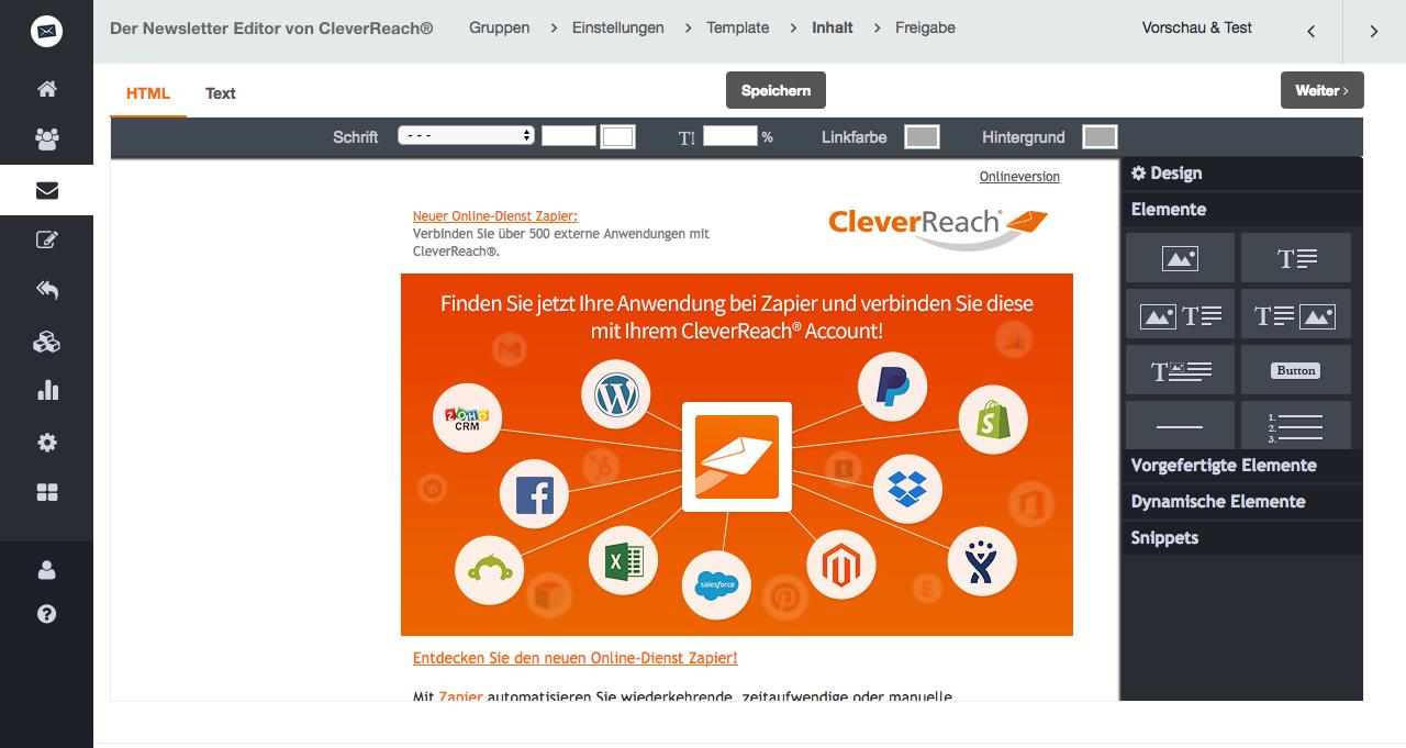 Der Newsletter Editor von CleverReach® - so geht's