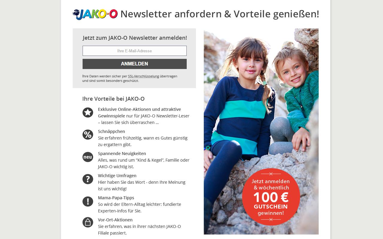 JAKO-O Anmeldeformular