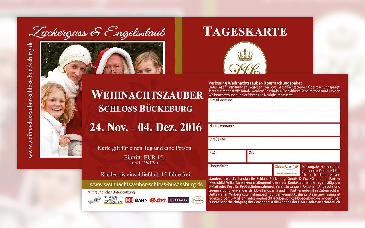 Weihnachtszauber Schloss Bückeburg - Eintrittskarte