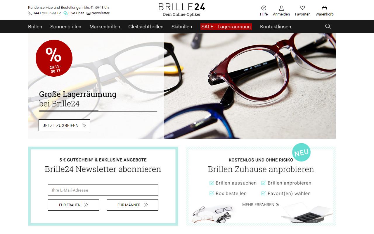 brille 24 Anmeldeformular