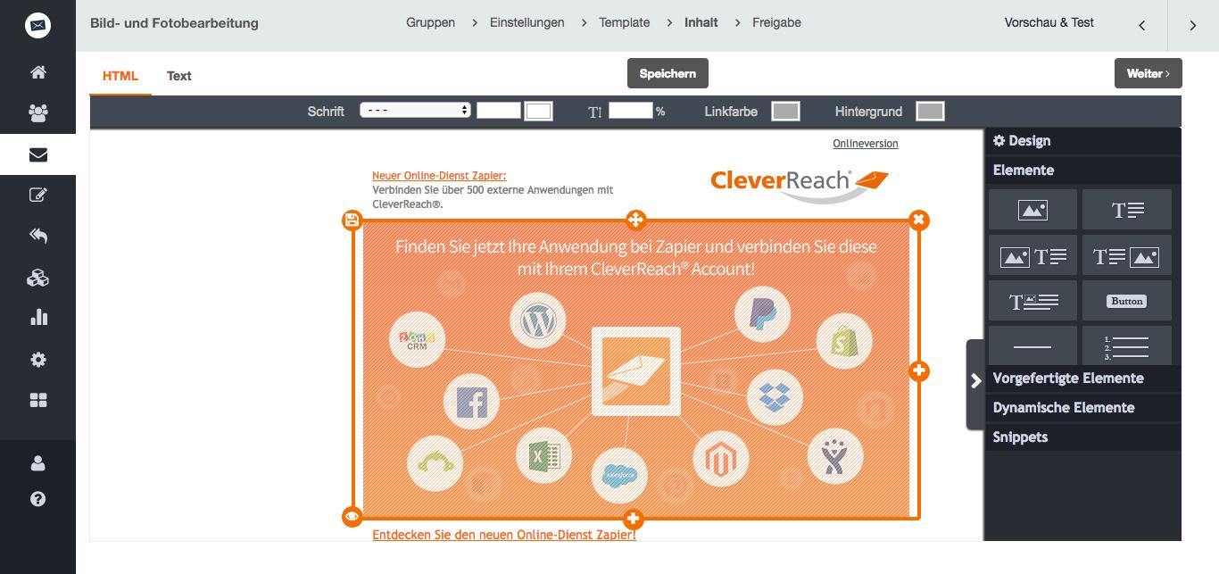 Bilder und Fotos ganz einfach im CleverReach® Newsletter Editor bearbeiten