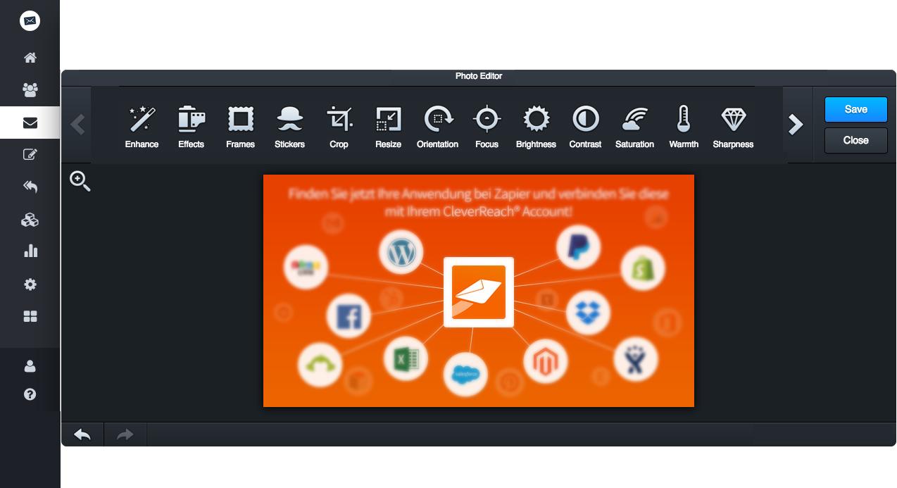 screenshot: Diese Features bietet unser Bildbearbeitungstool