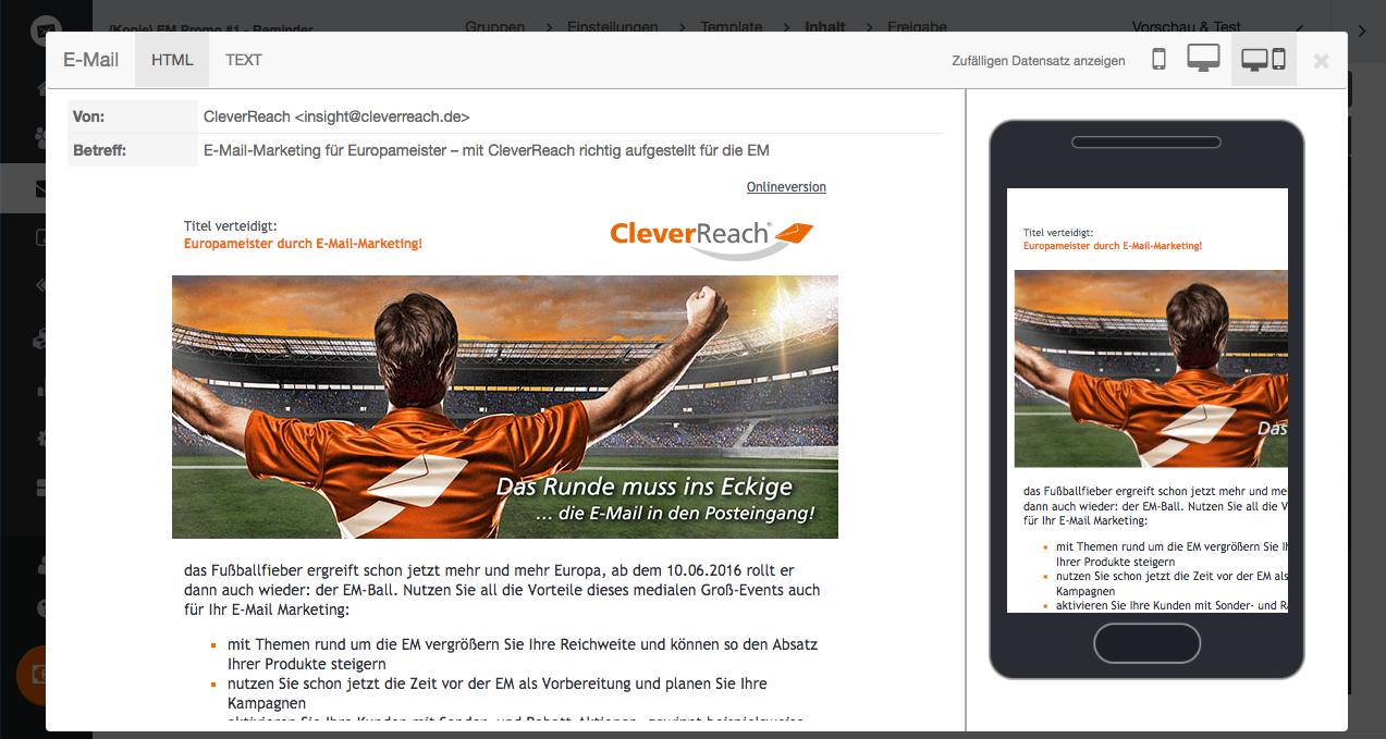 Responsive Newsletter Templates kostenlos bei CleverReach®