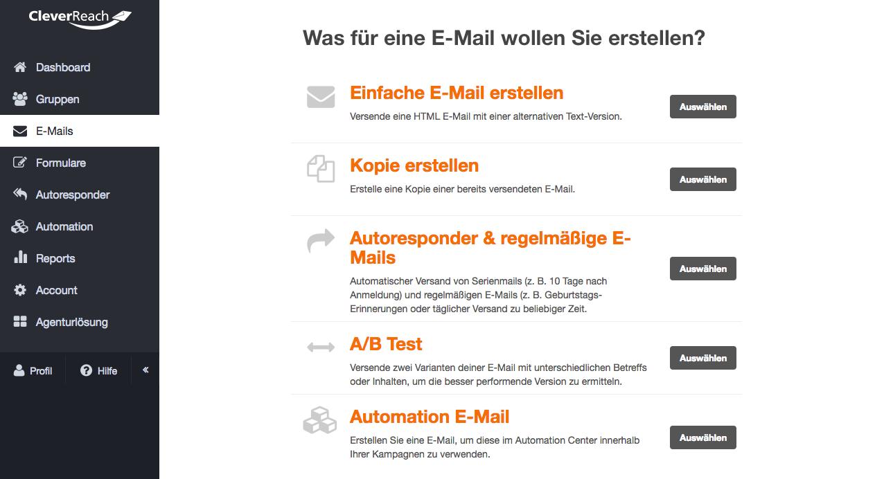 screenshot: Das macht den CleverReach® Newsletter Editor so besonders unkompliziert