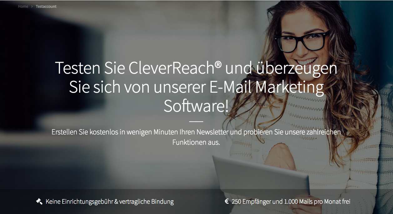 screenshot: segmentierungen mit cleverreach®