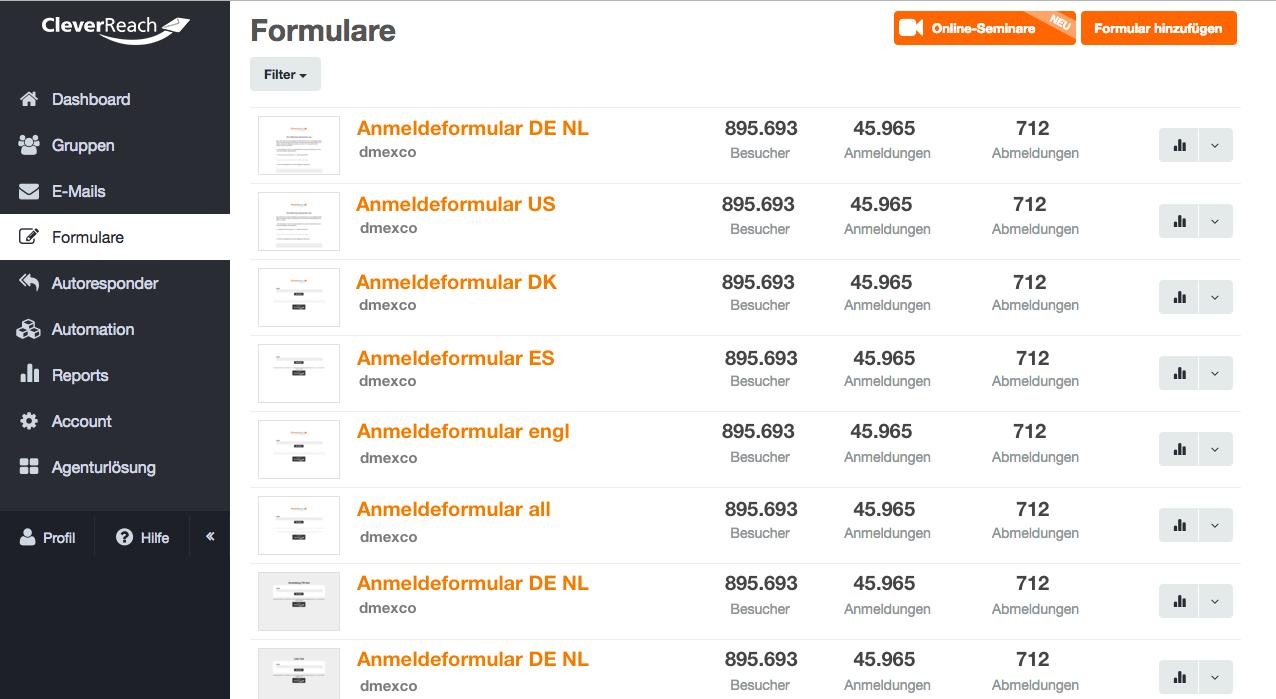 screenshot: Vorteile Double-Opt-In (DOI)