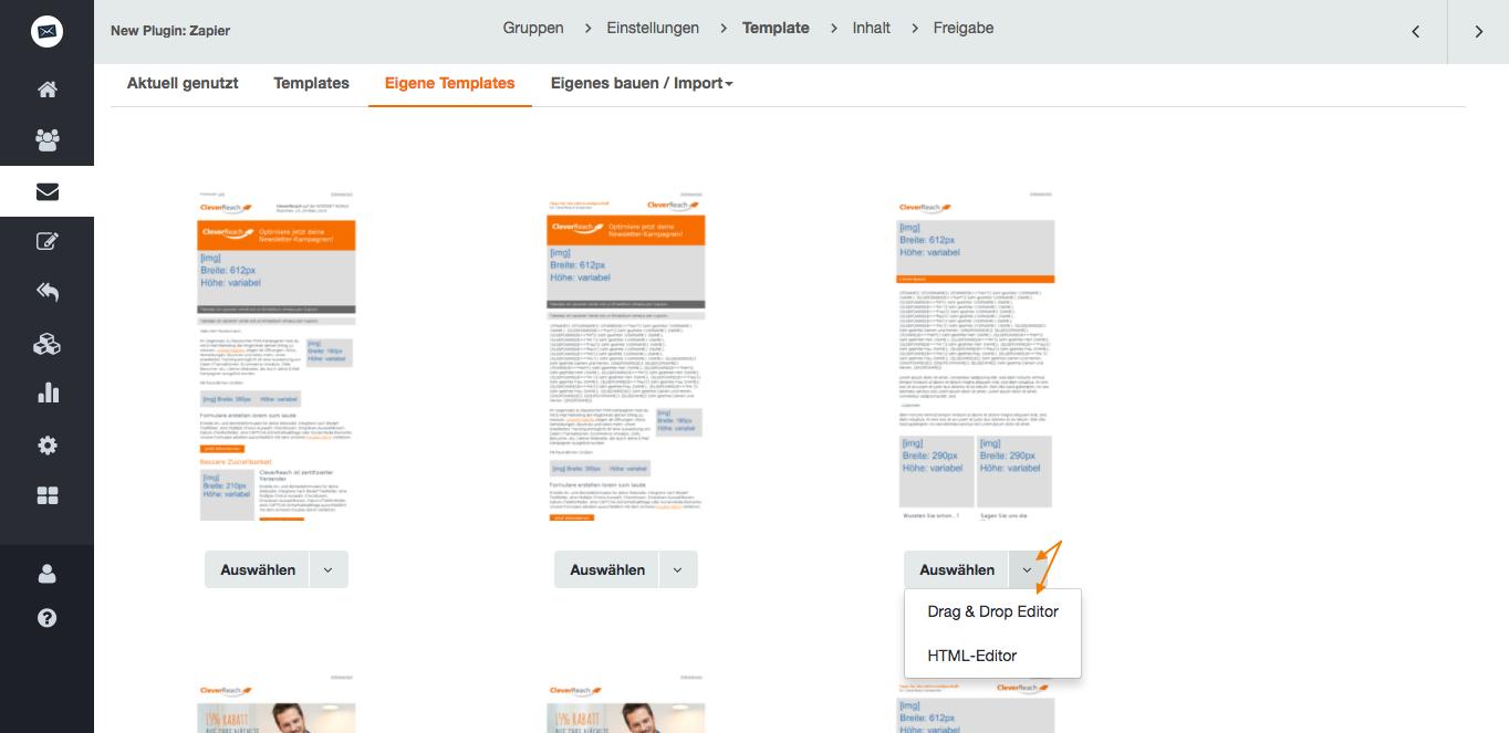 Mit CleverReach® eigene Newsletter-Vorlagen erstellen