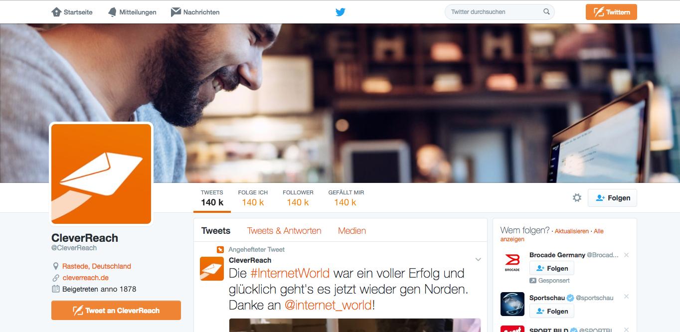 screenshot: Nutzen Sie Synergien: Verknüpfen Sie Ihren Newsletter mit Social Media
