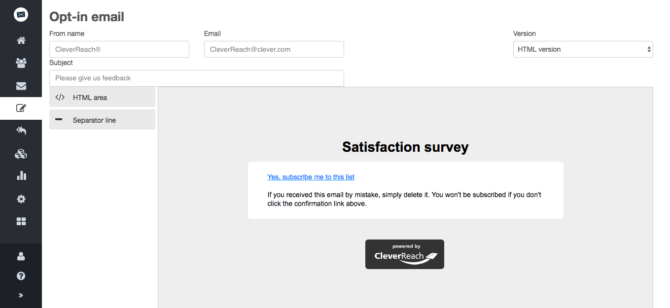 screenschot: 1. Satisfaction surveys