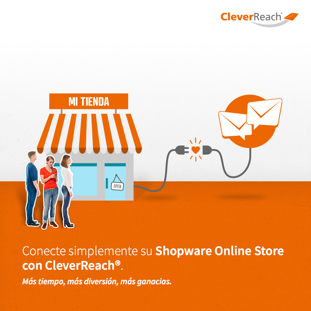 screenshot: cleverreach & Shopware