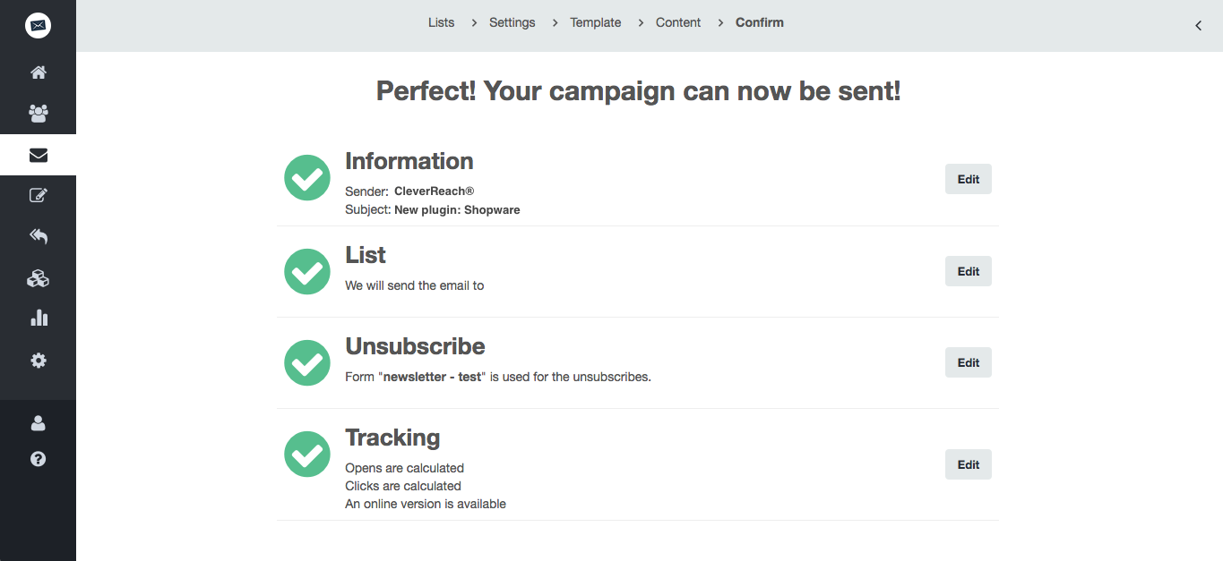 screenshot: Easy email marketing for perfect mailing campaigns