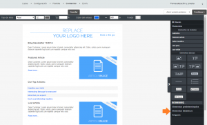 Comandia-CleverReach-insertar productos en un newsletter