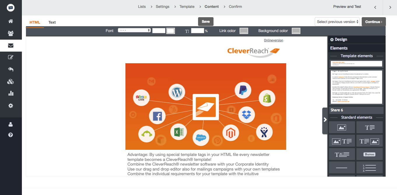 create your own newsletter templates with cleverreach