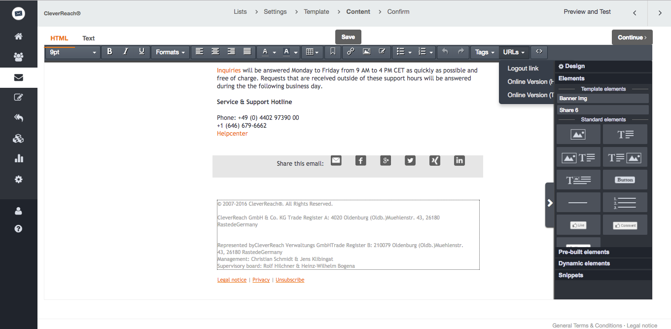 Automatic unsubscribe management with CleverReach®