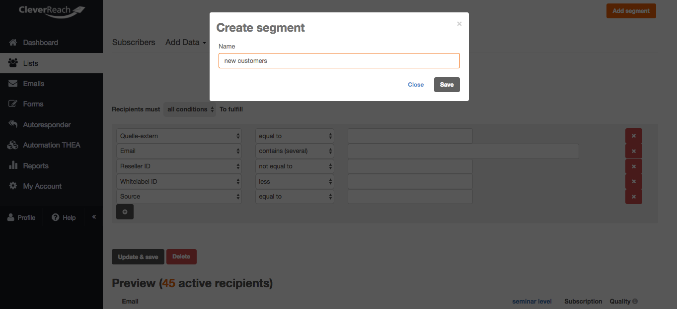 screenshot: Set up relevant data fields to save your data.