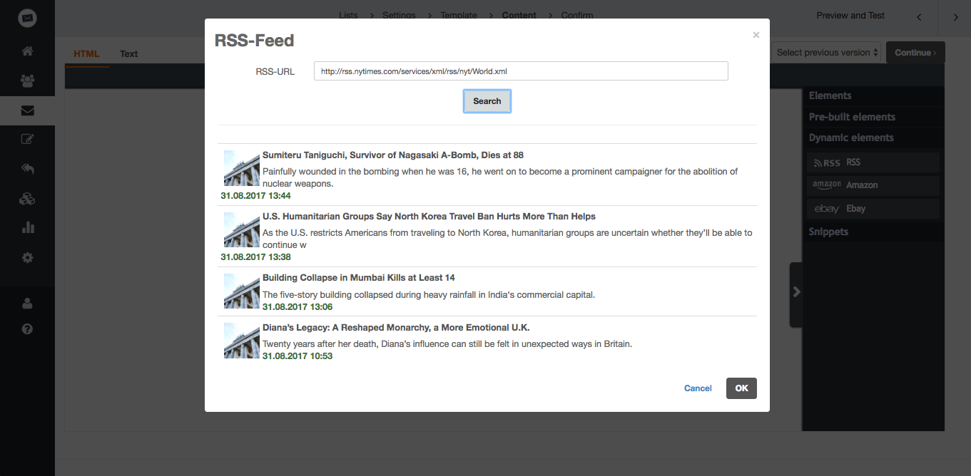 screenshot: What are RSS feeds?