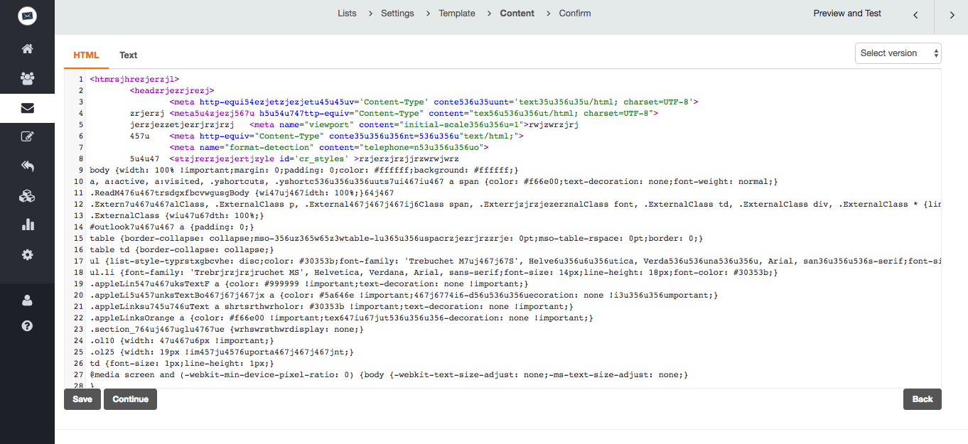 screenshot: Source code editor: Features