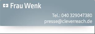 CleverReach® - Pressekontakt Frau Wenk+++