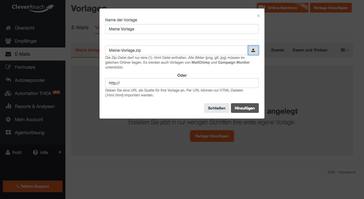 Der Template Converter wandelt Vorlagen für CleverReach® um