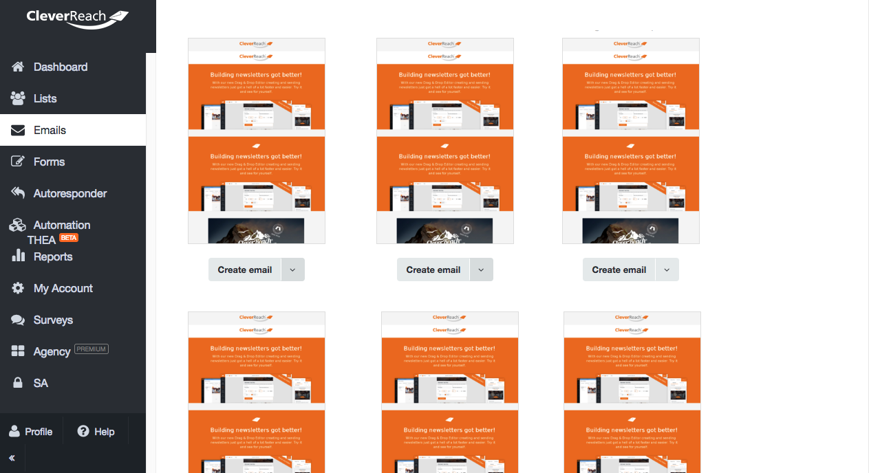 screenshot: The CleverReach® Template Converter - for more email templates