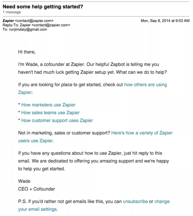 CleverReach PUSH Best Practice service provider Zapier